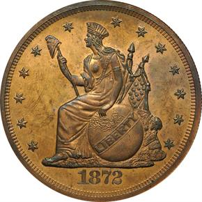 1872 J-1221 T$1 PF obverse