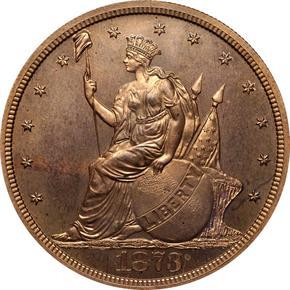1873 J-1312 T$1 PF obverse