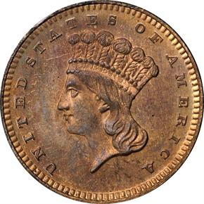 1870 J-1023 G$1 PF obverse