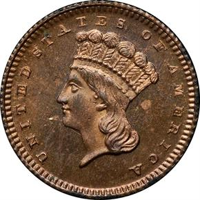 1871 J-1161 G$1 PF obverse