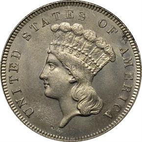 1866 J-543 $3 PF obverse