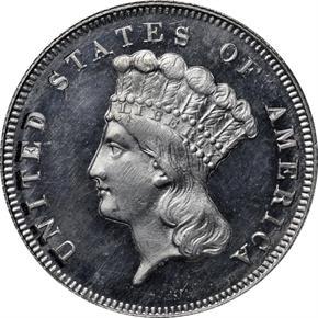 1869 J-773 $3 PF obverse