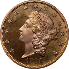 1870 J-1038 $20 PF obverse