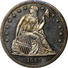 1845 S$1 PF obverse
