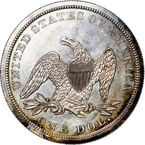 1845 $1 PF reverse