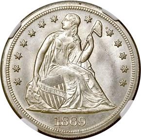 1869 $1 MS obverse