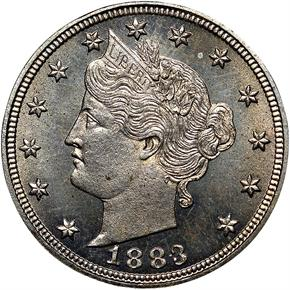1883 CENTS 5C PF obverse