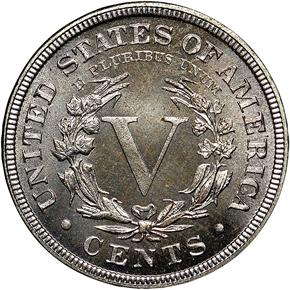1883 CENTS 5C PF reverse