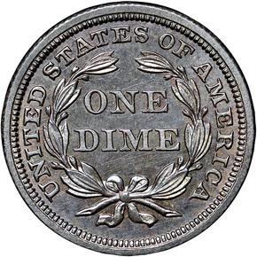 1841 NO DRAPERY 10C PF reverse