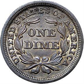 1849 10C MS reverse
