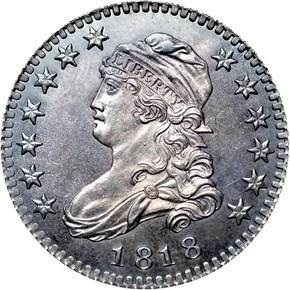 1818 25C PF obverse