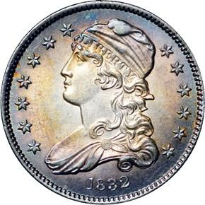 1832 25C MS obverse