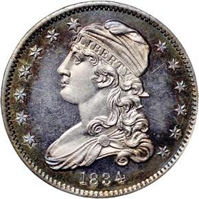 1834 25C PF obverse