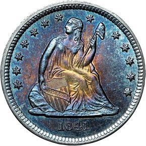 1841 25C MS obverse