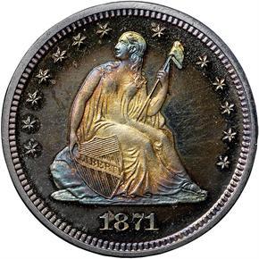 1871 25C PF obverse