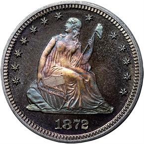 1872 25C PF obverse