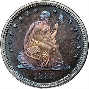 1880 25C PF obverse