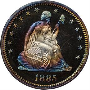 1885 25C PF obverse