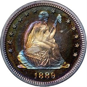 1889 25C PF obverse