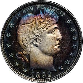 1892 25C PF obverse
