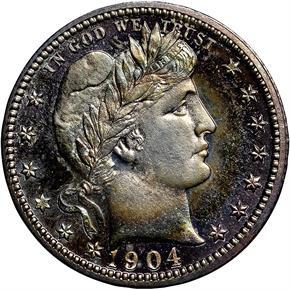 1904 25C PF obverse