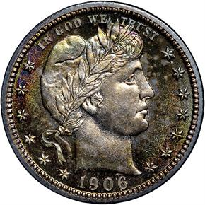 1906 25C PF obverse