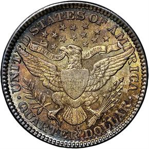 1908 O 25C MS reverse