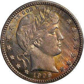 1909 25C MS obverse