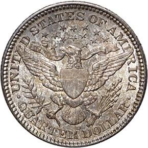 1909 D 25C MS reverse