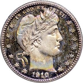 1910 25C PF obverse