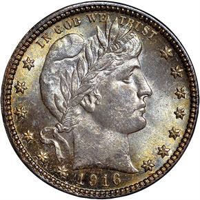 1916 D 25C MS obverse
