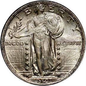 1921 25C MS obverse
