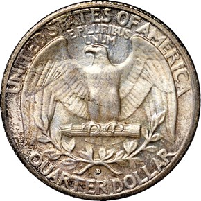 1935 D 25C MS reverse