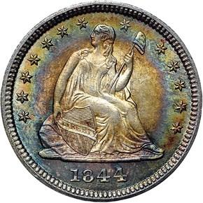 1844 25C MS obverse