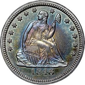 1846 25C MS obverse