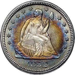 1852 25C MS obverse