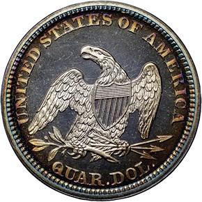 1864 25C PF reverse