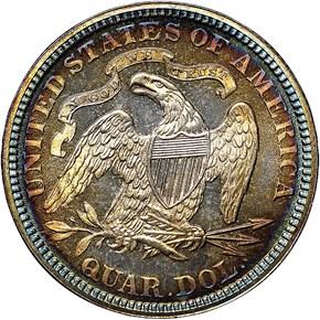 1876 25C PF reverse