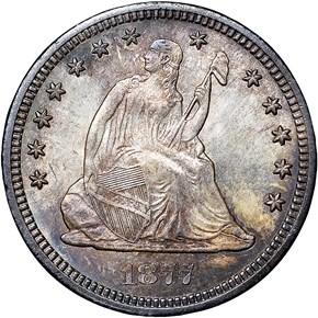 1877 CC 25C MS obverse