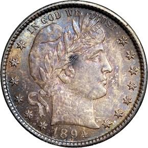 1894 S 25C MS obverse
