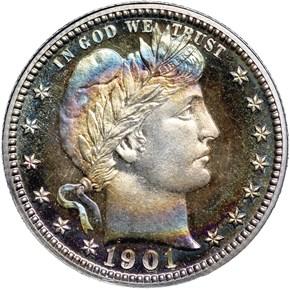 1901 25C PF obverse