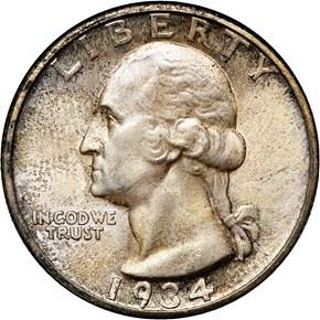 1934 25C MS obverse