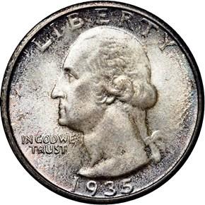 1935 25C MS obverse