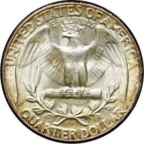 1947 D 25C MS reverse