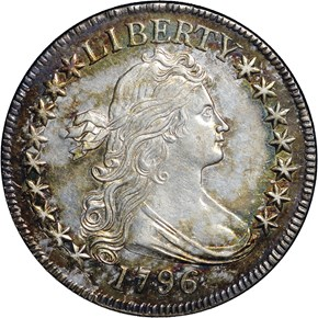 1796 16 STARS 50C MS obverse