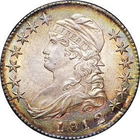 1812/1 SMALL 8 50C MS obverse