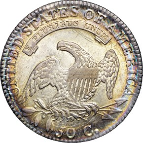 1814/3 50C MS reverse