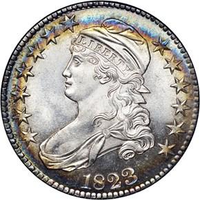 1823 50C MS obverse