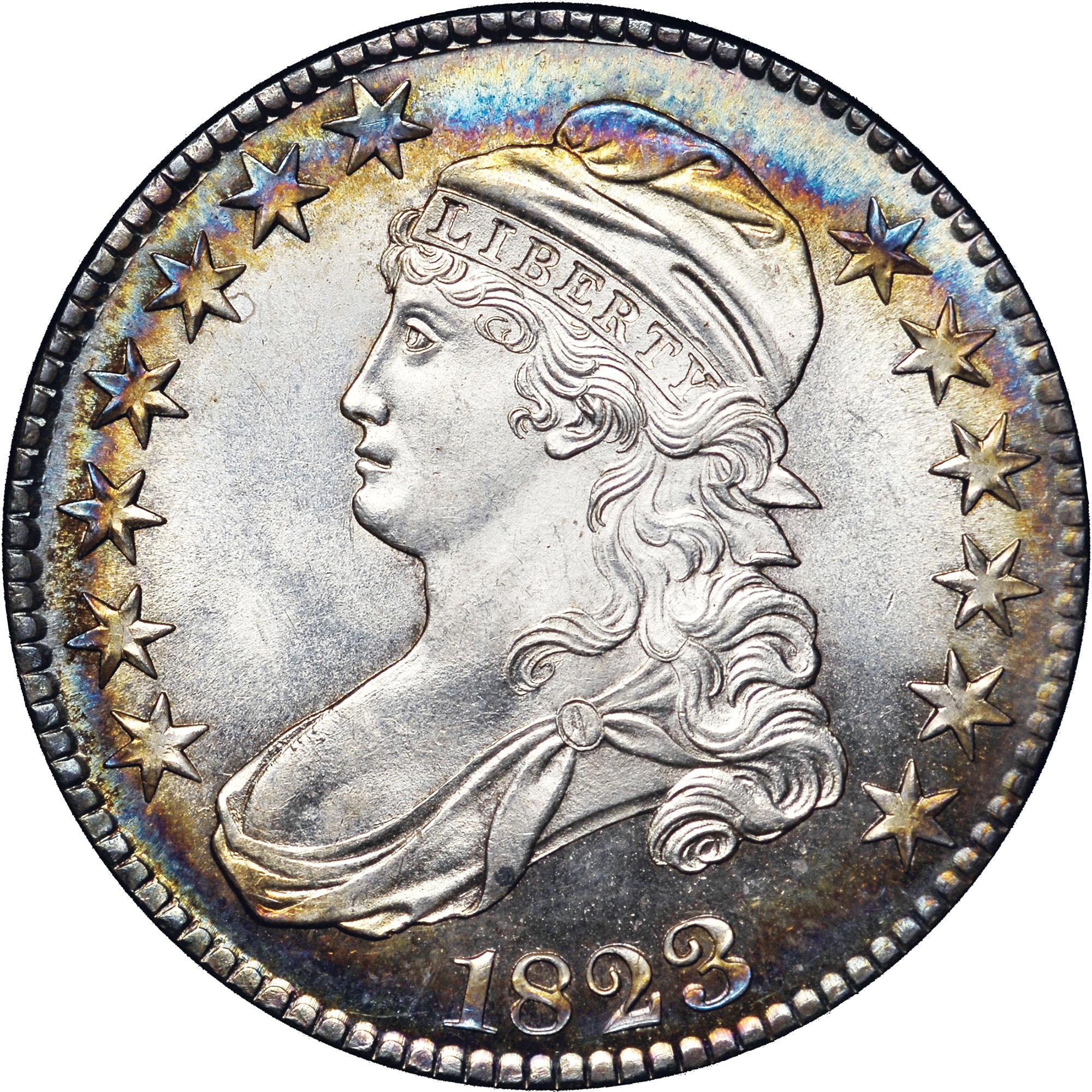1823 50C MS obverse ...