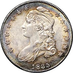 1835 50C MS obverse